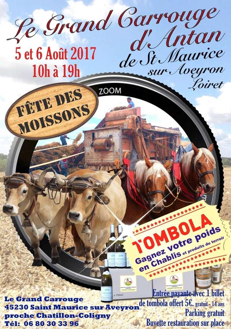 """(45) 4ème Fête de la Moisson: """"le Grand Carrouge d'Antan"""" à Saint Maurice sur Aveyron 2017_s12"""