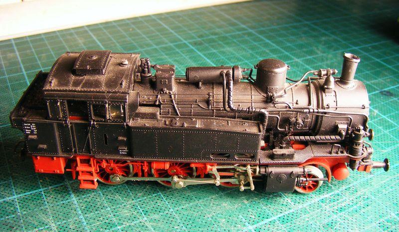 BR 74.4 - 13 (pr. T12) mit zusätzlichem Wasserwagen. Dscf7314
