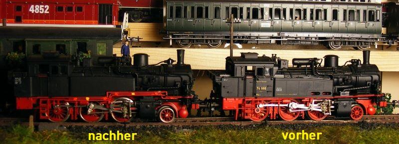 BR 74.4 - 13 (pr. T12) mit zusätzlichem Wasserwagen. Dscf7516