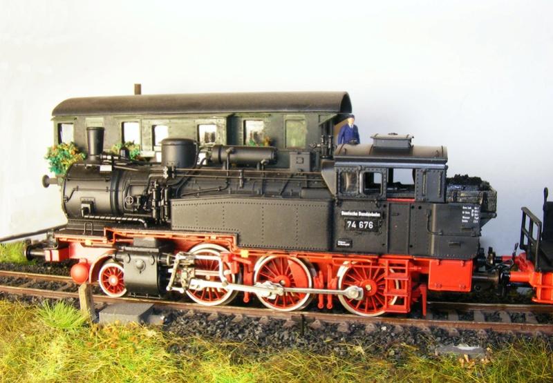 BR 74.4 - 13 (pr. T12) mit zusätzlichem Wasserwagen. Dscf7527