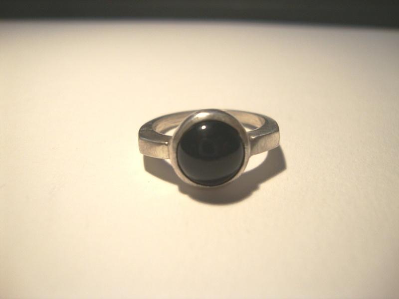 Bague argent et onyx noir sans soudure Dsc01917