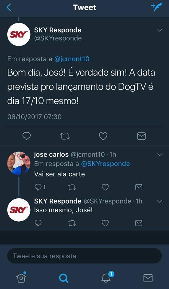 SKY anuncia distribuição do canal Dog TV que será comercializado à la carte 22279910