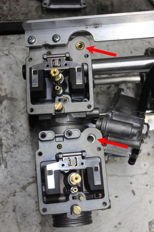 Réalisation d'une rampe de Mikuni RS36 pour une Honda 500 CB Ph09_c11