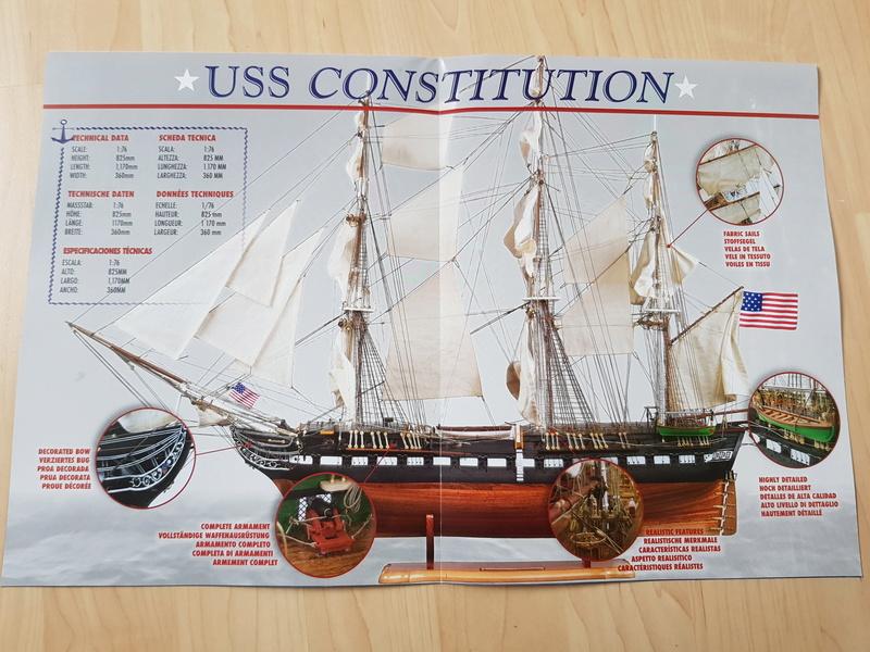 USS Constitution von DeAgostini 1:76 20170919