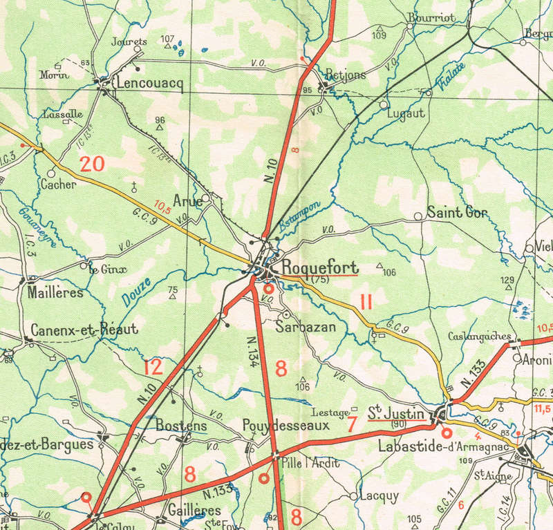 Chemin de fer Economique & Forestier des Landes de Gascogne. Roquef10