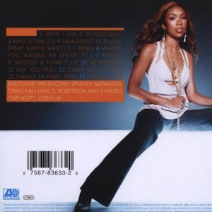 DISCOGRAPHY: @4everBRANDY • @ATLANTICRECORDS @EPIC_RECORDS @RODNEYJERKINS @TIMBALAND 518kpi10