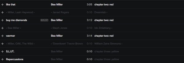 CREDITS: @BEAMILLER • 'blue/red/yellow' • @SYCO @HOLLYWOODRECS • @OAKwud @STEPHJONESmusic Beamil10