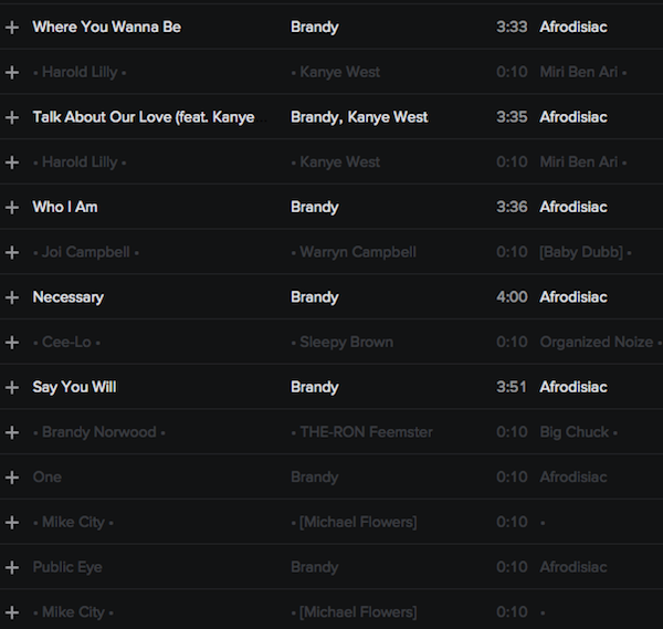 DISCOGRAPHY: @4everBRANDY • @ATLANTICRECORDS @EPIC_RECORDS @RODNEYJERKINS @TIMBALAND Brandy19