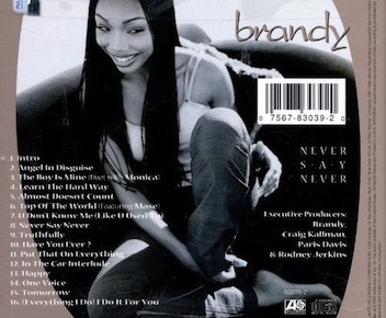 DISCOGRAPHY: @4everBRANDY • @ATLANTICRECORDS @EPIC_RECORDS @RODNEYJERKINS @TIMBALAND Nevers10