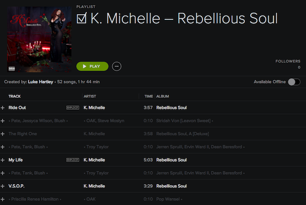 CREDITS: @KMICHELLE • 'A REBELLIOUS SOUL' • @ATLANTICRECORDS • Rebel110