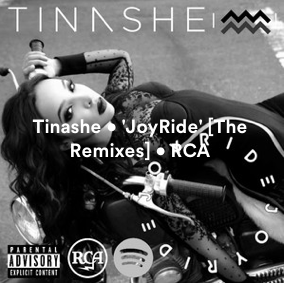 NEW TRACKS: @TINASHE • 'JOYRIDE' • @RCARECORDS • @MIKEWILLMADEIT @DEV_HYNES @STARGATE @JUSTTRANTER @imJMICHAELS Screen14