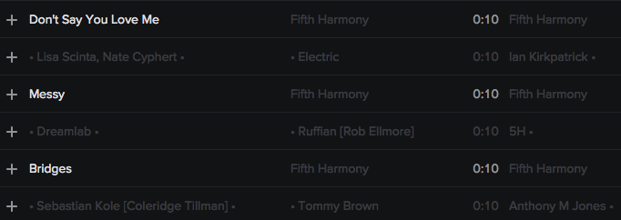 CREDITS: 4H • @FIFTHHARMONY • @EPIC_RECORDS @SYCO • [AUG 25] @TAYLARPARX @CANDYSHIELDS @HARMONYBOE @JASONEVIGAN Screen27