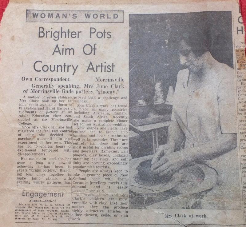 June Clark: Morrinsville Potter and Assistant to Elizabeth Lissaman Dscf8212