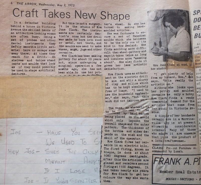 June Clark: Morrinsville Potter and Assistant to Elizabeth Lissaman Dscf8315