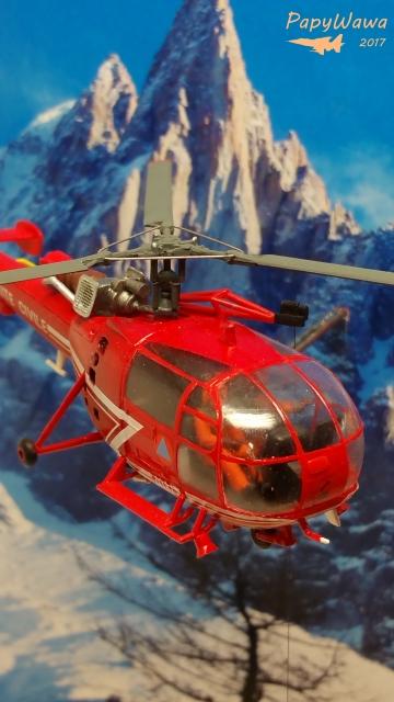 """SA 316B Alouette III """"Sécurité Civile"""" de chez HELLER au 1/72ème Alouet35"""