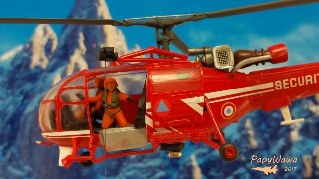 """SA 316B Alouette III """"Sécurité Civile"""" de chez HELLER au 1/72ème Alouet36"""