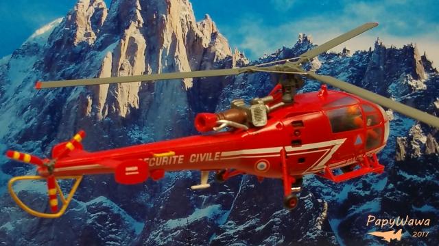 """SA 316B Alouette III """"Sécurité Civile"""" de chez HELLER au 1/72ème Alouet38"""