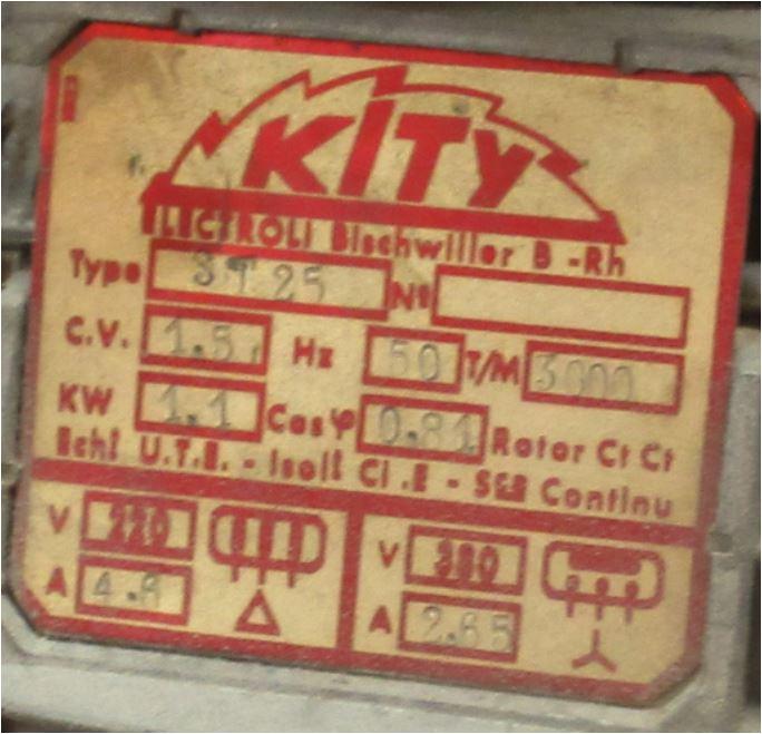 Modification moteur 380V triphasé en 220V Plaque10