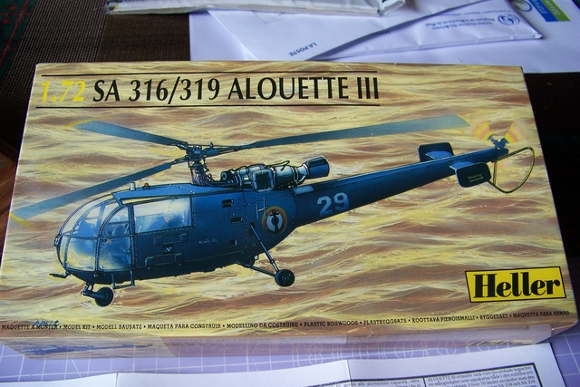 Incursion dans la Braille scale Alouette III Heller 1/72 1625210