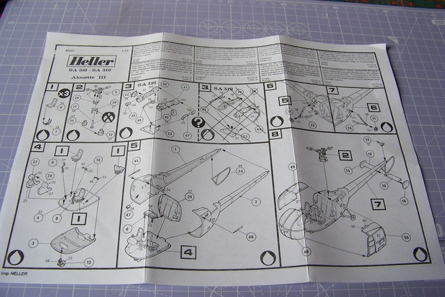 Incursion dans la Braille scale Alouette III Heller 1/72 1631210
