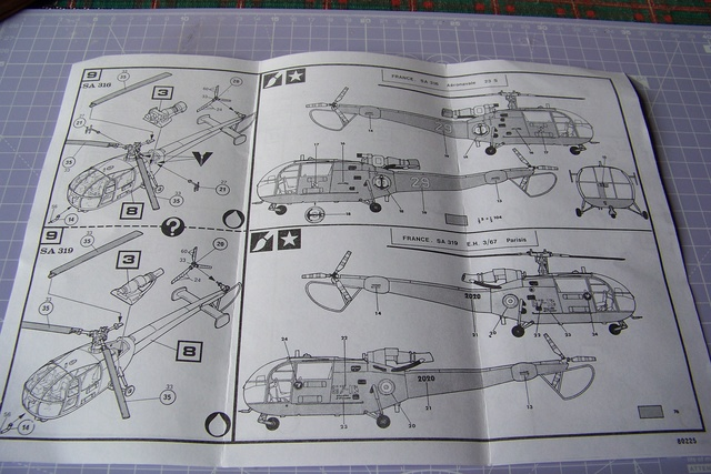 Incursion dans la Braille scale Alouette III Heller 1/72 1632210