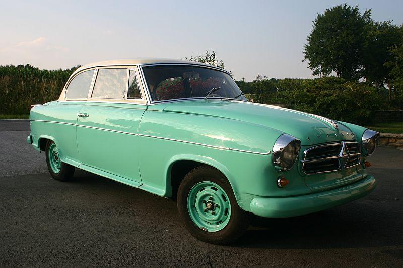 Borgward Isabella 1961 - auf dem Parkplatz schnappgeschossen 412
