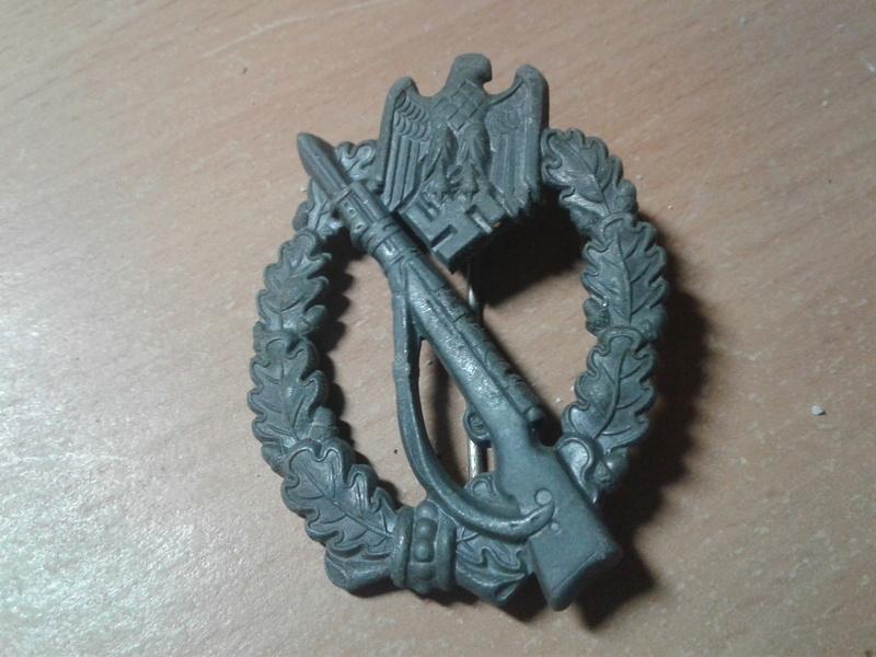 authentification badge infanterie , assault general et FLAK HEER 20170922