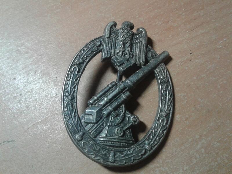authentification badge infanterie , assault general et FLAK HEER 20170923
