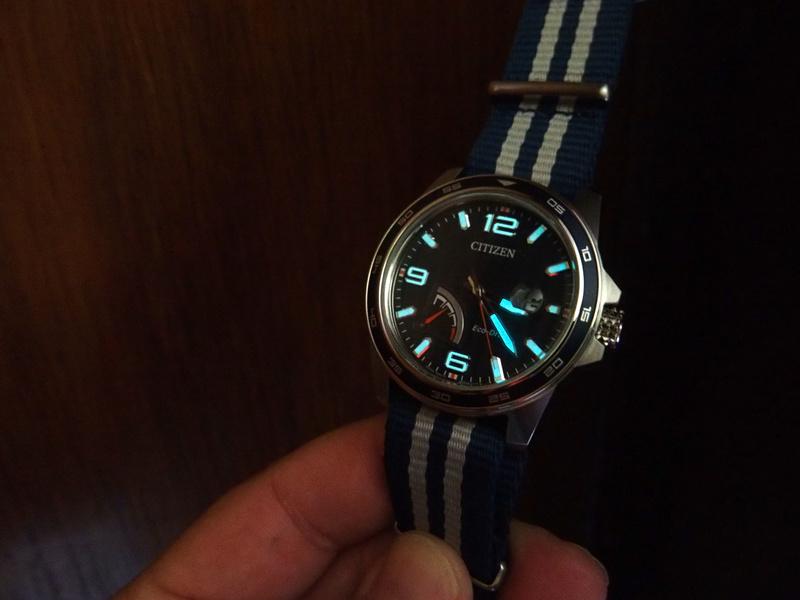 Citizen PRT AW7038-04L bleue - REVUE 17080328