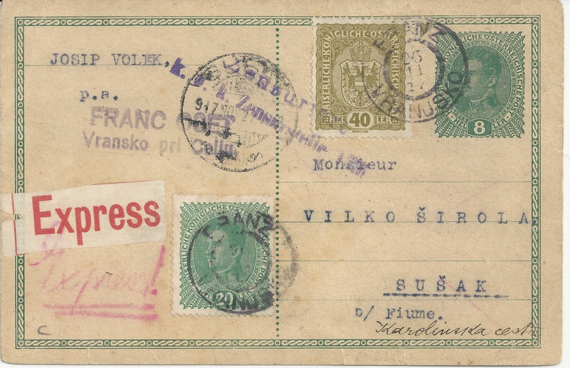 Die Auslandsexpreßgebühr ab 1.9.1918 Bild16