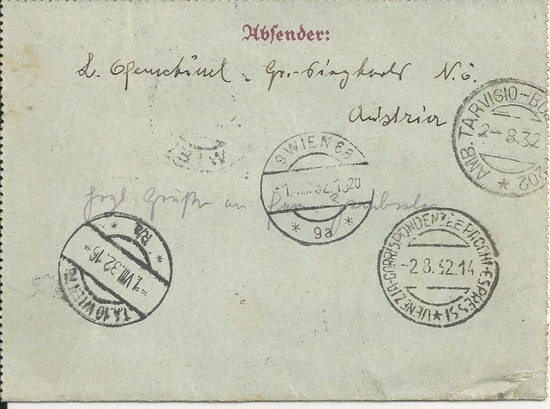 Bedarfspost Ganzsachen Österreich 1925-1938 Bild_713