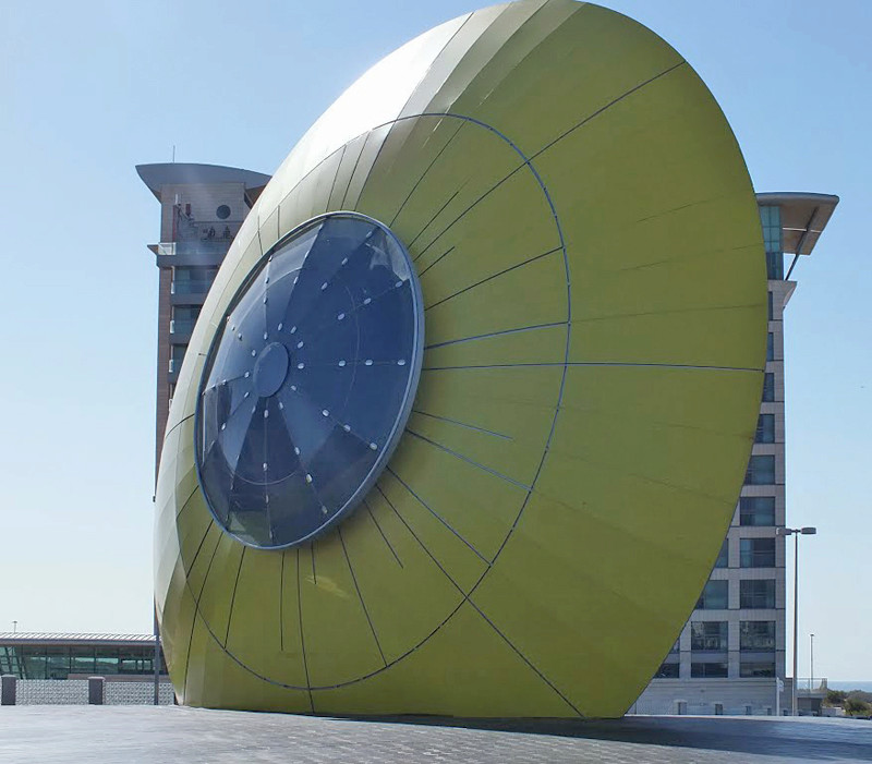 """Sun Eye' sculpture - Ashdod - Israël 83783310"