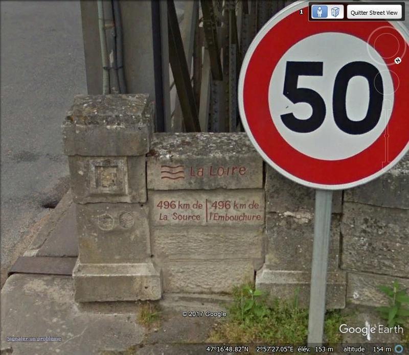 Le point équidistant de la source à l'embouchure de la Loire Www55