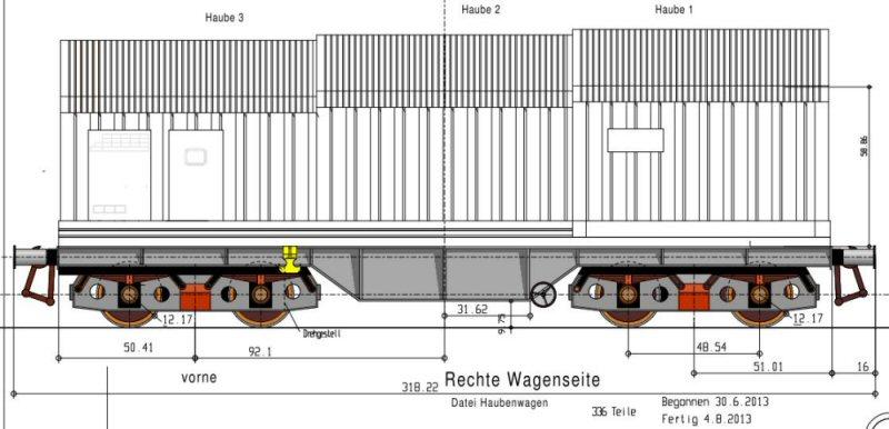 Haubenwagen von A. Pirling in ca. 1:54 Unbena10