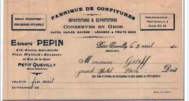 ETIQUETTE LAITON  EDOUARD PEPIN Pepin310