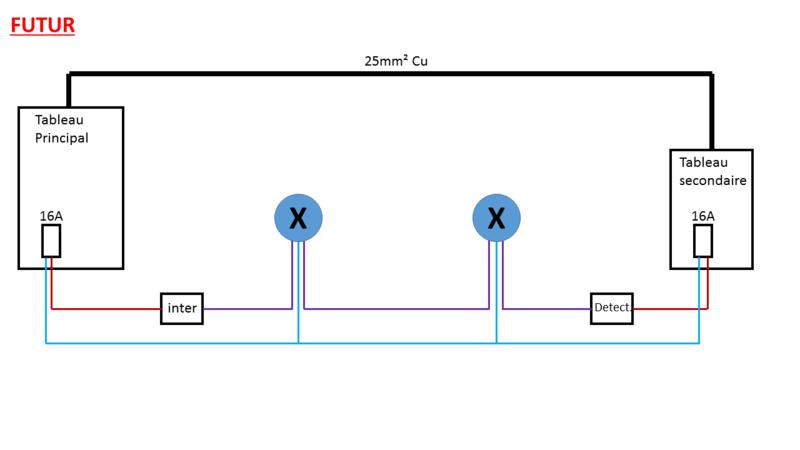 Circuit eclairage - Inter + detecteur Futur10