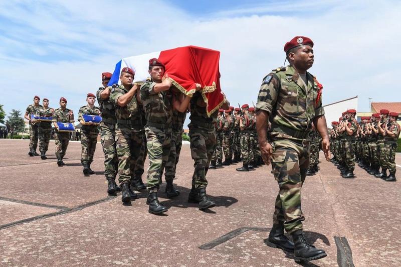 Albéric Riveta est le militaire du 1er RCP de Pamiers qui a trouvé la mort en opération au Mali Hommag15