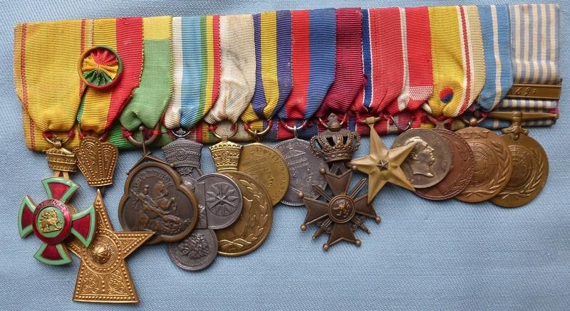 Groupe de médailles Ethiopiennes pour la Corée Mydail10