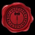 Un parchemin portant le sceau de la brasserie Barbe-Antique adressé au Thane Forgerage. 14851810