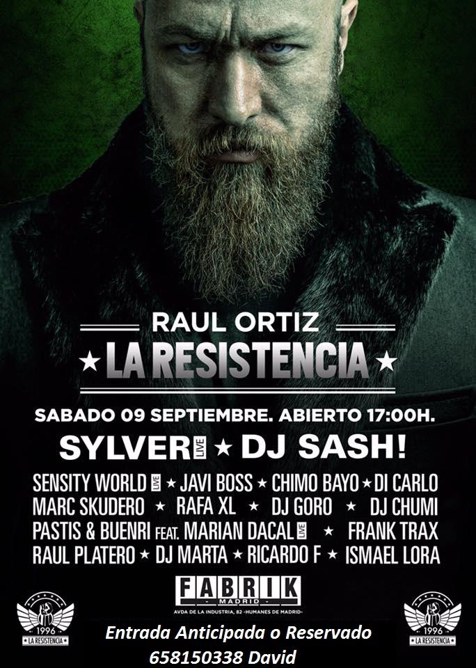 09.09.17- LA RESISTENCIA - FABRIK-MADRID HAZTE CON TU ENTRADA ANTICIPADA O RESERVADO 658150338 DAVID  Resist10
