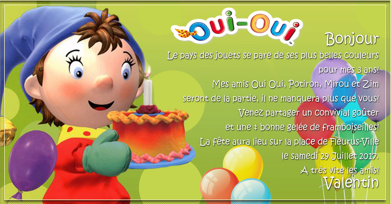 carte invitation oui oui  Valent10