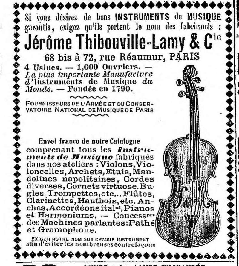 Les instruments de musique : caisses - tambours - clairons - trompettes  - Page 3 1911-10