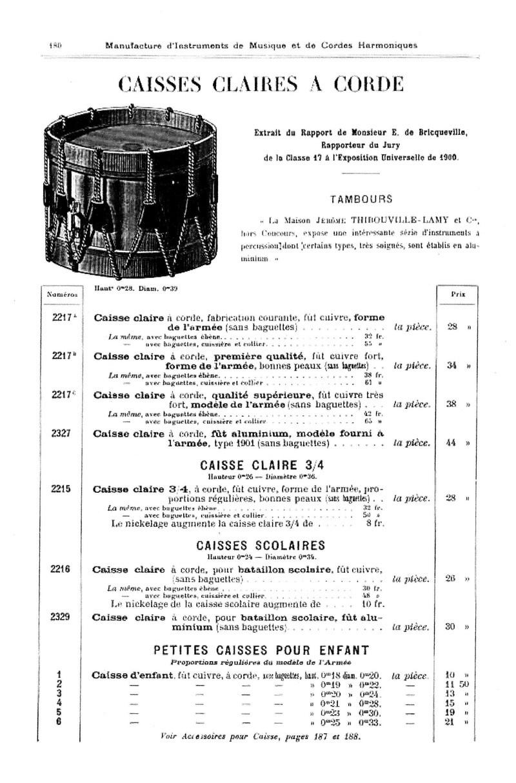Les instruments de musique : caisses - tambours - clairons - trompettes  - Page 3 Thibou10