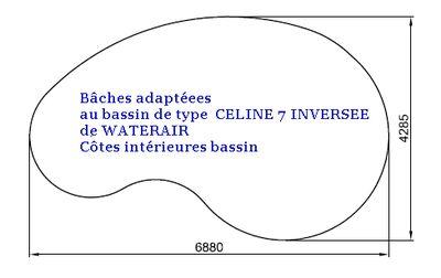 position de l'enrouleur bâche à bulle Celine10