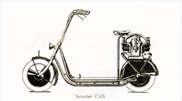 Čas: Le premier flat twin à transmission par arbre fut un scooter ! Snip_212