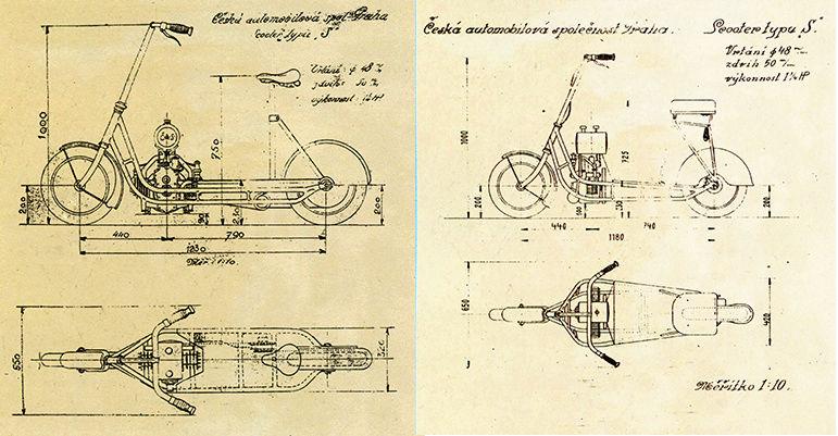 Čas: Le premier flat twin à transmission par arbre fut un scooter ! Snip_217