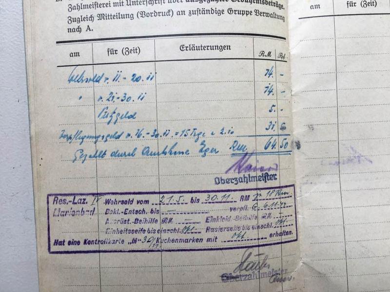 Soldbuch Luftwaffe 1944-1945 à déchiffrer svp 1010