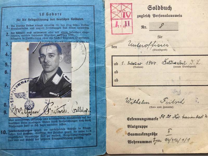 Soldbuch Luftwaffe 1944-1945 à déchiffrer svp 210