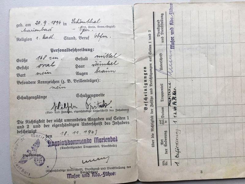 Soldbuch Luftwaffe 1944-1945 à déchiffrer svp 310