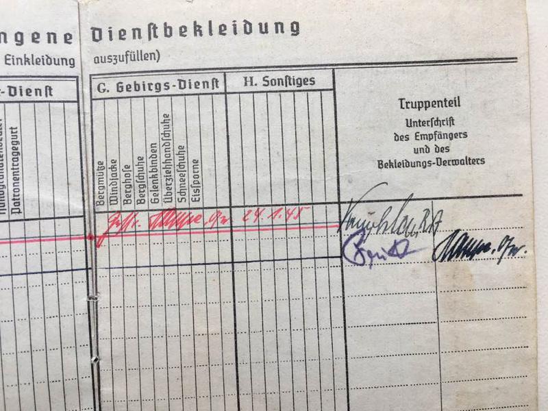 Soldbuch Luftwaffe 1944-1945 à déchiffrer svp 610